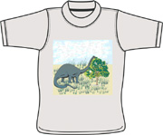 Dinosaur T shirt - custom dog t shirts
