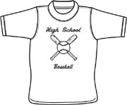 High School Baseball T shirt - screen printing on t shirts