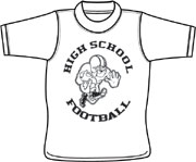 High School Football T shirt - custom printed tee shirts