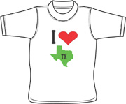 Love TX T shirt - Fork, Maryland (MD)