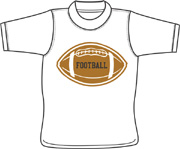 Football T shirt - Bladensburg, Maryland (MD) custom made t shirt